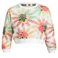 MSGM | Floral Printed Cropped Cotton Sweatshirt | Browns fashion & designer clothes & clothing