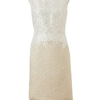 GIAMBATTISTA VALLI | Macrame Lace and Lurex Tweed Dress | Browns fashion & designer clothes & clothing