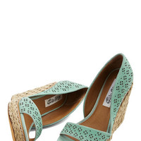 Main Street Meander Wedge in Mint | Mod Retro Vintage Heels | ModCloth.com