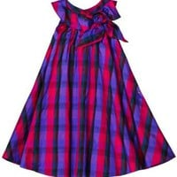 Blue Pearl Girls 7-16 Silk Taffeta Plaid Isabella Dress