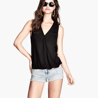 H&M Sleeveless Wrap Blouse $17.95