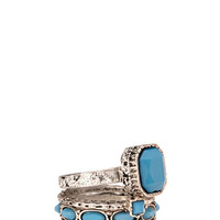 Regal Faux Stone Ring Set