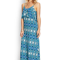 Worldly Ikat Maxi Dress
