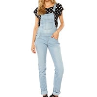 Papaya Clothing Online :: OVERALL DENIM ROMPER
