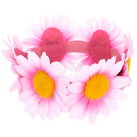 Pink floral bun top hair garland - hair accessories - accessories - women