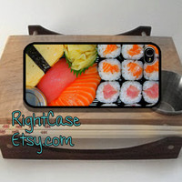 SUSHI IPHONE 5S CASES Japanese Rice and Salmon Fish iPhone 5 iPhone 5s iPhone Case Samsung Galaxy S4 S3 Cover iPhone 5c cases iPhone 4s case