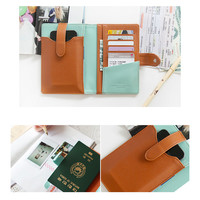 PHOTOIN Travel Passport & Phone Case - Brown