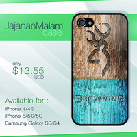 browning deer on wood mint case, wood iphone case, iphone 4 case iphone 5c case, samsung gaxaly S3 case, samsung gaxaly S4 case