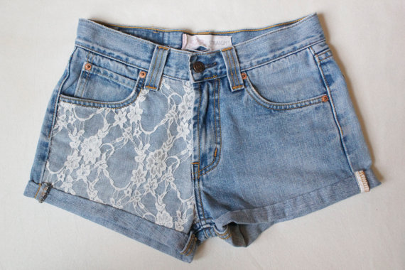 Vintage Style Levi High Waisted Shorts by sjsteed on Etsy