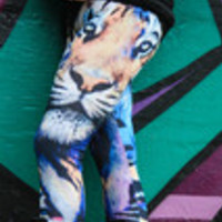 Carrie's Closet - colorful tiger leggings