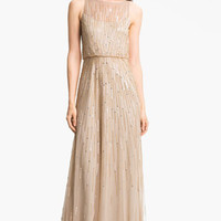 Aidan Mattox Illusion Yoke Sequin Mesh Gown (Online Only) | Nordstrom