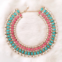 Pastel Paris Dreams Statement Necklace