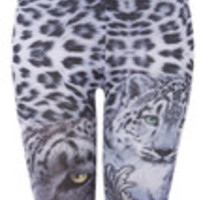 Carrie's Closet - Gray Ice Leopard Leggings
