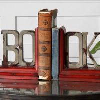 Book Distressed Bookends, Set of 2, 19589, Accessories