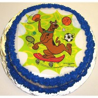 "Scooby Doo Chocolate Chip Decorated Cake Single Layer 8"" Round"