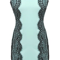 Lace Embrace Dress | Scalloped Mint Lace Bodycon Dresses | Rickety Rack