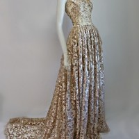 The Fenty Baudelaire Parker Golden Gown