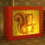 SQUIRREL BUDDY Music box Night light by bixreedhandmade on Etsy