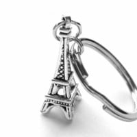 Eiffel Tower Key Chain or Zipper Pull with Eiffel Tower Charm from StarlightSarah