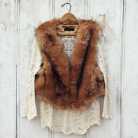 Chumstick Faux Fur Vest in Honey