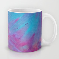 Blue Bloom Abstract Mug by DuckyB (Brandi)
