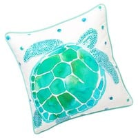 Sea Creature Watercolor Pillow Cover