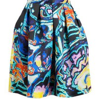 CHRISTOPHER KANE | Brain Scan Printed Silk Organza Skirt | Browns fashion & designer clothes & clothing