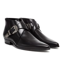 SAINT LAURENT | Boxer Leather Ankle Boots | Browns fashion & designer clothes & clothing