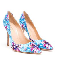 MARY KATRANTZOU | Digital Embellishment Printed Satin Pumps | Browns fashion & designer clothes & clothing