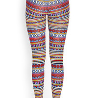 Soft Tribal Print Leggings