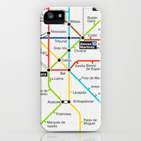 Metro de Madrid iPhone & iPod Case by Chido Things