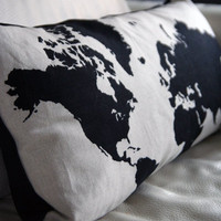 World Map Cushion
