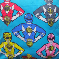 Vintage Mighty Morphin Power Rangers Throw Pillow 1993