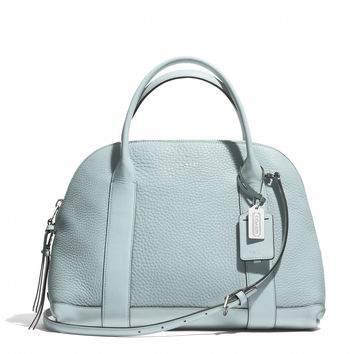 BLEECKER PRESTON SATCHEL IN PEBBLED LEATHER