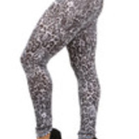 Carrie's Closet - gray and black leopard print plus size leggings