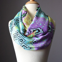 Spring scarf in Mint and Lilac