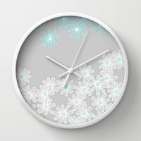 Daisy Dance Wall Clock by micklyn