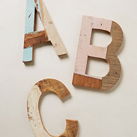 Reclaimed Wood Block Letters