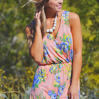 Flower Petal Wishes Romper - Peach