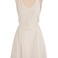 lace tank dress with smocked waist