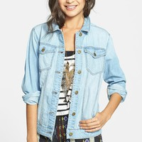 BP. Oversized Denim Jacket (Juniors) | Nordstrom