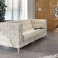 Upholstered 3 seater sofa Rebecca Collection by Bizzotto | design Tiziano Bizzotto