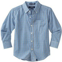 Izod Kids Boys 2-7 Long Sleeve Woven Small Check Shirt