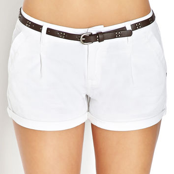 Refined Woven Shorts w/ Belt