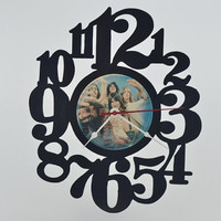 Vinyl Record Album Wall Clock (artist is Journey)