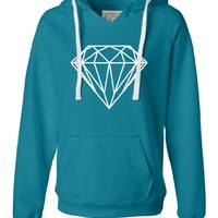 Large Turqberry Womens Diamond Deluxe Soft Hoodie