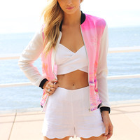 Flamingo Bomber Jacket | SABO SKIRT