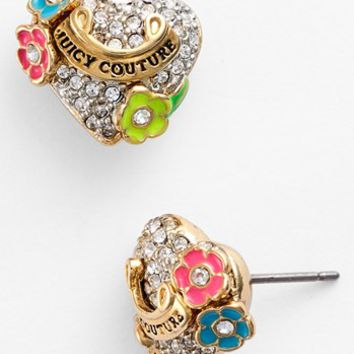 Juicy Couture 'Blooming Hearts' Pavé Stud Earrings | Nordstrom