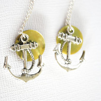 Nautical Earrings featuring Anchors and Mussel by Meghanlee5