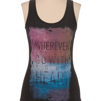 Wherever you go graphic tank